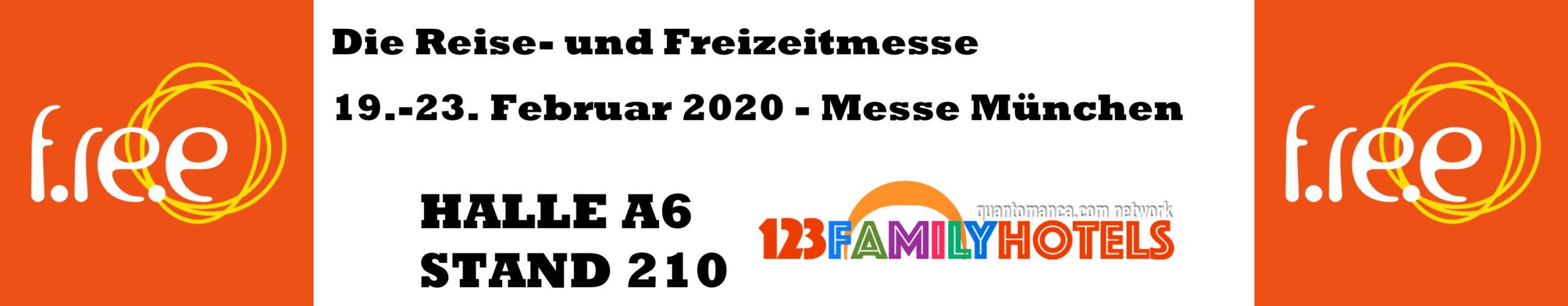Free 2020 München - Freizeitmesse Bayern - wir stellen aus Halle A6 Stand 210